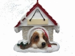 Personalized Doghouse Ornament - Basset Hound