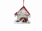 Personalized Doghouse Ornament - Beagle
