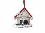 Personalized Doghouse Ornament - Border Collie