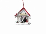 Personalized Doghouse Ornament - Boston Terrier