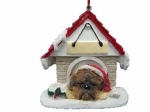 Personalized Doghouse Ornament - Boxer Brindle UnCropped