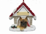 Personalized Doghouse Ornament - Boxer Brindle