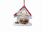 Personalized Doghouse Ornament - Boxer Fawn