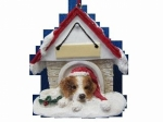 Personalized Doghouse Ornament - Brittany Spaniel