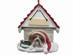 Personalized Doghouse Ornament - Bulldog