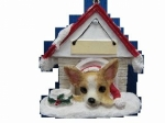Personalized Doghouse Ornament - Chihuahua Tan