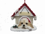 Personalized Doghouse Ornament - Cocker Spaniel blonde