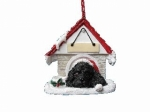 Personalized Doghouse Ornament - Cocker Spaniel Black