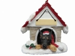 Personalized Doghouse Ornament - Doberman