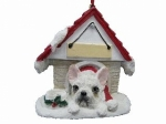 Personalized Doghouse Ornament - French Bulldog