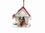 Personalized Doghouse Ornament - German Shepherd
