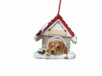 Personalized Doghouse Ornament - Golden Retriever