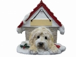 Personalized Doghouse Ornament - Goldendoodle
