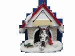Personalized Doghouse Ornament - Great Dane Harlequin