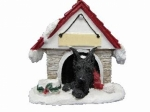 Personalized Doghouse Ornament - Great Dane Black