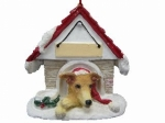 Personalized Doghouse Ornament - Greyhound