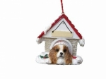 Personalized Doghouse Ornament - King Charles