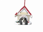 Personalized Doghouse Ornament - King Charles Tri-color