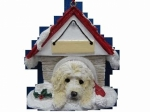 Personalized Doghouse Ornament - Labradoodle Cream