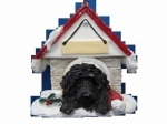 Personalized Doghouse Ornament - Labradoodle Dark