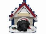 Personalized Doghouse Ornament - Labrador Black