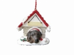 Personalized Doghouse Ornament - Labrador Chocolate