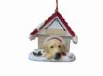 Personalized Doghouse Ornament - Labrador Yellow