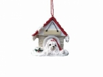 Personalized Doghouse Ornament - Maltese