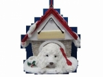 Personalized Doghouse Ornament - Maltipoo