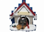 Personalized Doghouse Ornament - Miniature Pinscher