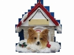 Personalized Doghouse Ornament - Papillon