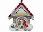 Personalized Doghouse Ornament - Pit Bull Brindle