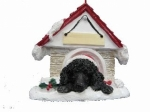 Personalized Doghouse Ornament - Poodle Black
