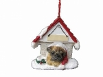 Personalized Doghouse Ornament - Pug