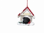 Personalized Doghouse Ornament - Pug Black