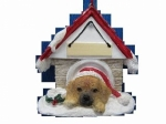 Personalized Doghouse Ornament - Puggle