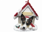 Personalized Doghouse Ornament - Rat Terrier