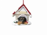 Personalized Doghouse Ornament - Rottweiler