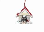 Personalized Doghouse Ornament - Schnauzer