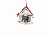 Personalized Doghouse Ornament - Schnauzer UnCropped