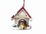 Personalized Doghouse Ornament - Sheltie