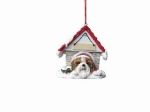 Personalized Doghouse Ornament - Shih tzu Tan