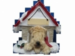 Personalized Doghouse Ornament - Soft Coated Wheaten Terrier