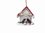 Personalized Doghouse Ornament - Springer Spaniel