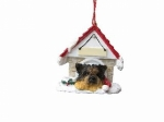 Personalized Doghouse Ornament - Yorkie