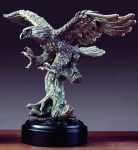 "Pewter Finish 15"" Eagle with Spread Wings Sculpture"