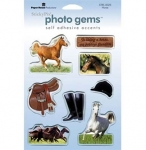Photo Gems Puff Horse Stickers