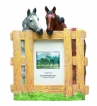 Picture Frame - Horses Picket Fence