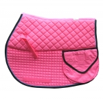 PRI Quilted Cotton Double Backed Trail Saddle Pad with Pockets