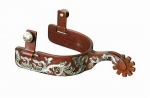 Pro Choice Bob Avila Collection Floral Spurs Medium Shank - 1 band, 2 shank, 10 point rowel